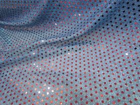 Great value 3mm American Sequins- Red on Blue available to order online New Zealand
