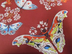 Great value Amy Butler- Queen Ann's Butterflies- Ruby available to order online New Zealand