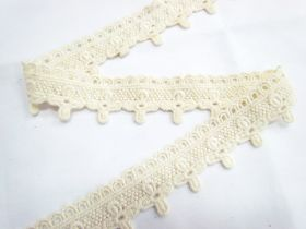 Great value Soft Vintage Flower Cross Lace- Natural available to order online New Zealand