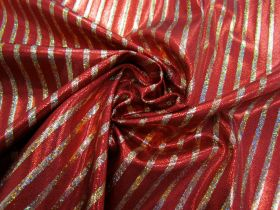 Great value Fog Finish Cabaret Stripe Spandex- Red / Gold #2766 available to order online New Zealand