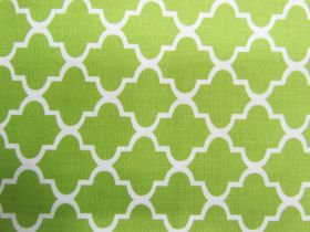 Great value Quatrefoil Cotton- Lime #PW1130 available to order online New Zealand