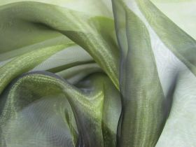 Great value Wide Width Glass Organza- Shot Olive available to order online New Zealand