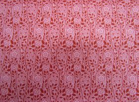 Great value Liberty Cotton- Merton Rose- 5902E- The Emporium Collection- Red available to order online New Zealand
