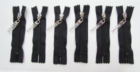 Great value Zip Bundle- BLACK- Luxe Lucite Zipper Pull- 10cm Closed End Zips- 6 for $5 available to order online New Zealand