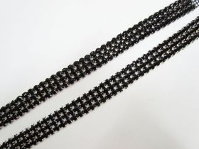 Great value Black Diamante Rhinestone Trim Pieces- 2 for $5 available to order online New Zealand