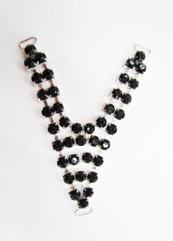 Great value Diamante Rhinestone Trim Insert- Black available to order online New Zealand