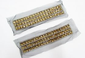 Great value Rhinestone Soft Mesh Motif- Leopard Black- 2 for $5 available to order online New Zealand