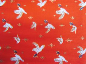 Great value Ruby Star Society Cotton- Candlelight- Doves- Poinsettia 35-15M available to order online New Zealand