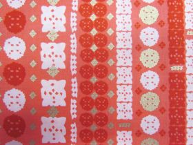 Great value Ruby Star Society Cotton- Candlelight- Paper Cuts- Poinsettia 33-12M available to order online New Zealand