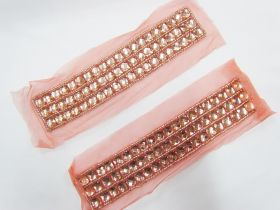 Great value Rhinestone Soft Mesh Motif- Peach Pink- 2 for $5 available to order online New Zealand