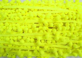 Great value Pom Pom Trim- Highlighter Yellow #479 available to order online New Zealand