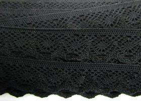 Great value 37mm Cotton Lace Trim- Noir Black #481 available to order online New Zealand