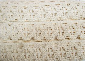Great value 50mm Cotton Lace Trim- Sandstone #483 available to order online New Zealand