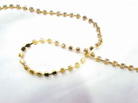 Great value 4mm Diamante Trim- Gold available to order online New Zealand
