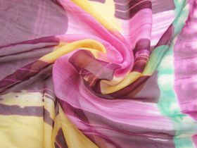 Great value Painter's Batik Silk Chiffon 65cm Panel  #2872 available to order online New Zealand