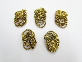Great value Gold Beaded Embellishments- RW236- 5 for $3 available to order online New Zealand