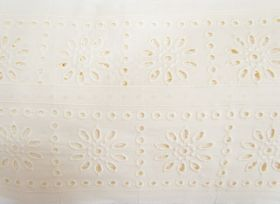Great value 85mm Sunny Girl Broderie Anglaise Trim- Cream #228 available to order online New Zealand