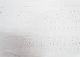 Great value 85mm Sunny Girl Broderie Anglaise Trim- White #229 available to order online New Zealand