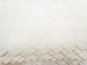 Great value 10cm Juliet Broderie Anglaise Trim- Cream #233 available to order online New Zealand