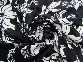 Great value Blissful Blossom Lightweight Spandex- Black #4893 available to order online New Zealand