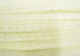 Great value 25mm Stella Stretch Lace Trim- Butter Yellow #242 available to order online New Zealand