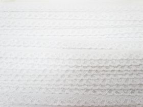 Great value 12mm Itsy Bitsy Stretch Lace Trim- White #244 available to order online New Zealand