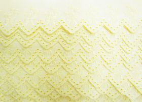 Great value 55mm Delightful Bouquet Broderie Anglaise Trim- Sunny Yellow #246 available to order online New Zealand