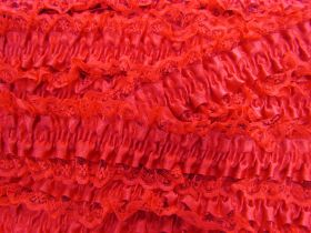 Great value 50mm Lace Garter Elastic Trim- Red #254 available to order online New Zealand