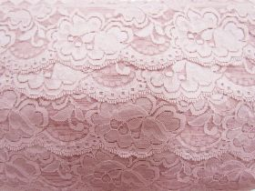 Great value 85mm Giselle Stretch Floral Lace Trim- French Rose #262 available to order online New Zealand