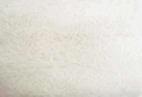Great value 55mm Josephine Stretch Floral Lace Trim- Cream #270 available to order online New Zealand