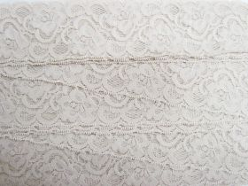 Great value 55mm Josephine Stretch Floral Lace Trim- Pearl Beige #268 available to order online New Zealand