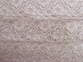 Great value 55mm Josephine Stretch Floral Lace Trim- Dusty Rose #267 available to order online New Zealand
