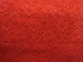 Great value 55mm Josephine Stretch Floral Lace Trim- Red #266 available to order online New Zealand