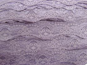 Great value 40mm Wave Edge Stretch Floral Lace Trim- Mauve #275 available to order online New Zealand
