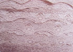 Great value 40mm Wave Edge Stretch Floral Lace Trim- French Rose #274 available to order online New Zealand