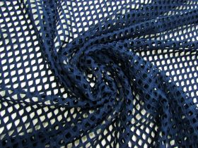Great value Stretch Fishnet Mesh- Navy #4943 available to order online New Zealand