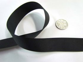 Great value Roll of Grosgrain Ribbon 22mm- Black available to order online New Zealand