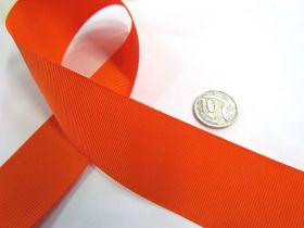 Great value Grosgrain Ribbon 38mm- Orange available to order online New Zealand