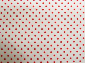Great value 2mm Spot Cotton- Strawberries & Cream #PW1230 available to order online New Zealand