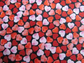 Great value Confetti Hearts Cotton- Black #PW1272 available to order online New Zealand