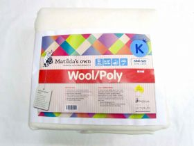 Great value King Size Matilda's Own M140 Wool / Poly Precut Wadding available to order online New Zealand