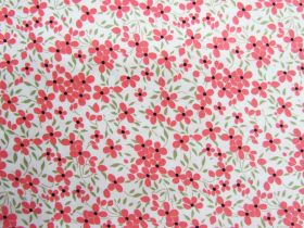 Great value Floweret Cotton- Coral #PW1280 available to order online New Zealand