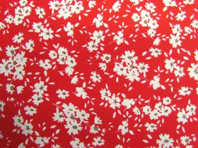 Great value Fields Of Daisies Cotton- Red #PW1252 available to order online New Zealand