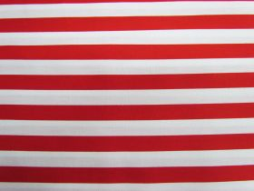 Great value 12mm Stripes Cotton- Red #PW1233 available to order online New Zealand