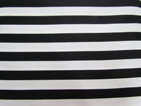 Great value 12mm Stripes Cotton- Black #PW1232 available to order online New Zealand