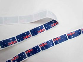 Great value Australian Flag Satin Ribbon- 35mm available to order online New Zealand