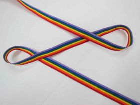 Great value Rainbow Ribbon- 15mm available to order online New Zealand