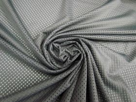 Great value Brushed Sports Eyelet Mesh- Grey #5017 available to order online New Zealand