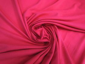 Great value Sports Eyelet Spandex Jersey- Brilliant Pink #5020 available to order online New Zealand