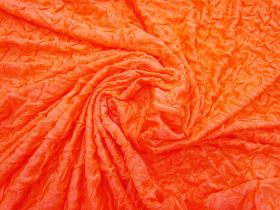 Great value Lightweight Crinkled Spandex- Orange Popsicle #3150 available to order online New Zealand